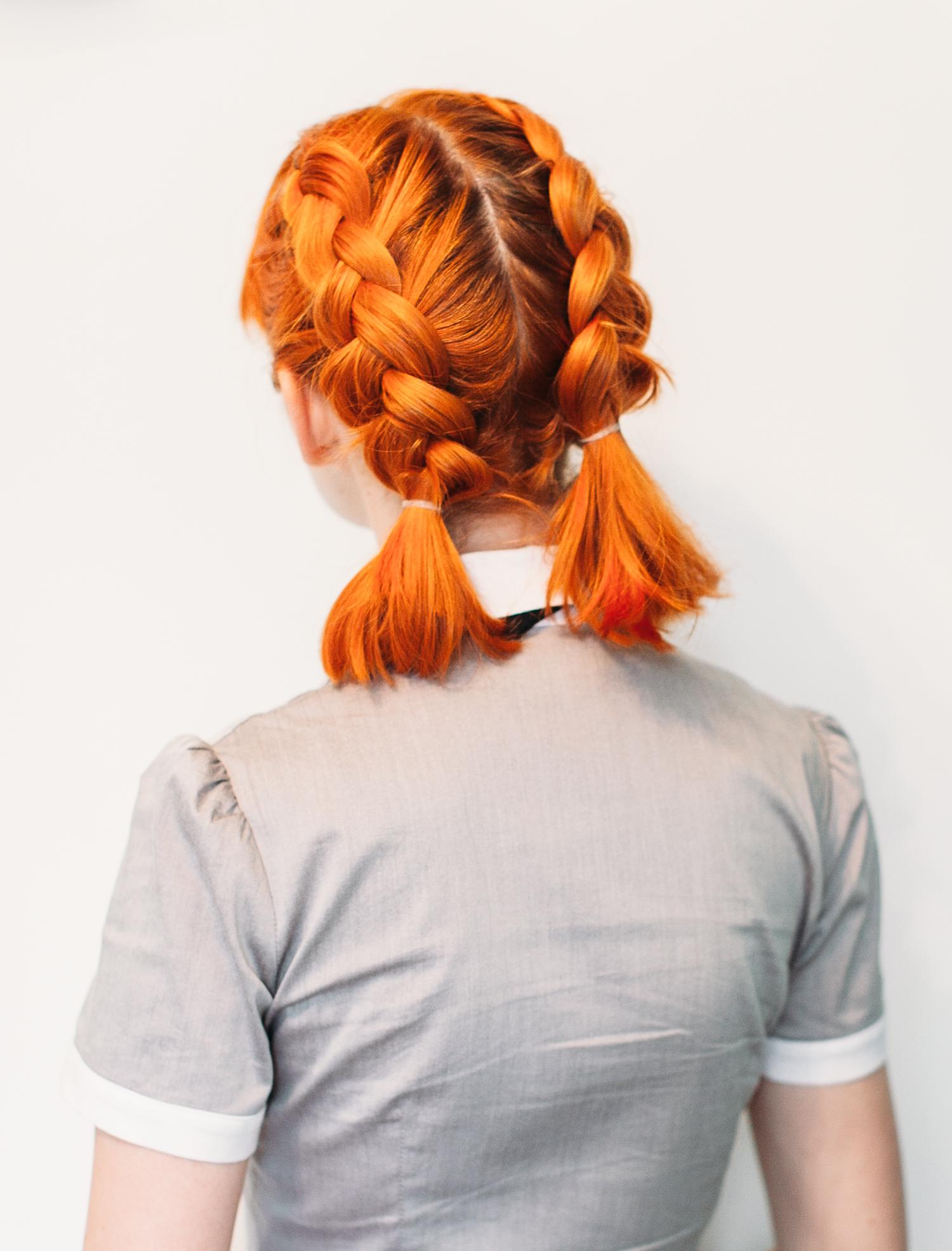 Neon-Orange-Short-Bob Braids Hairstyles 2020 for Ultra Stylish Looks