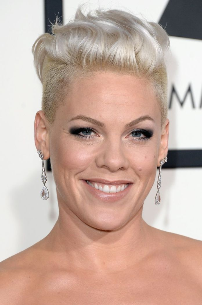 Pinks-Platinum-Short-Hawk-1 15 Pixie Cuts for All Hair Textures in 2020