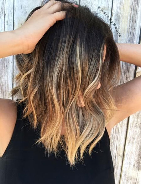 Popular-Balayage-Hair-Color-Ideas-001-ohfree.net_ Popular Balayage Hair Color Ideas for Short Hair