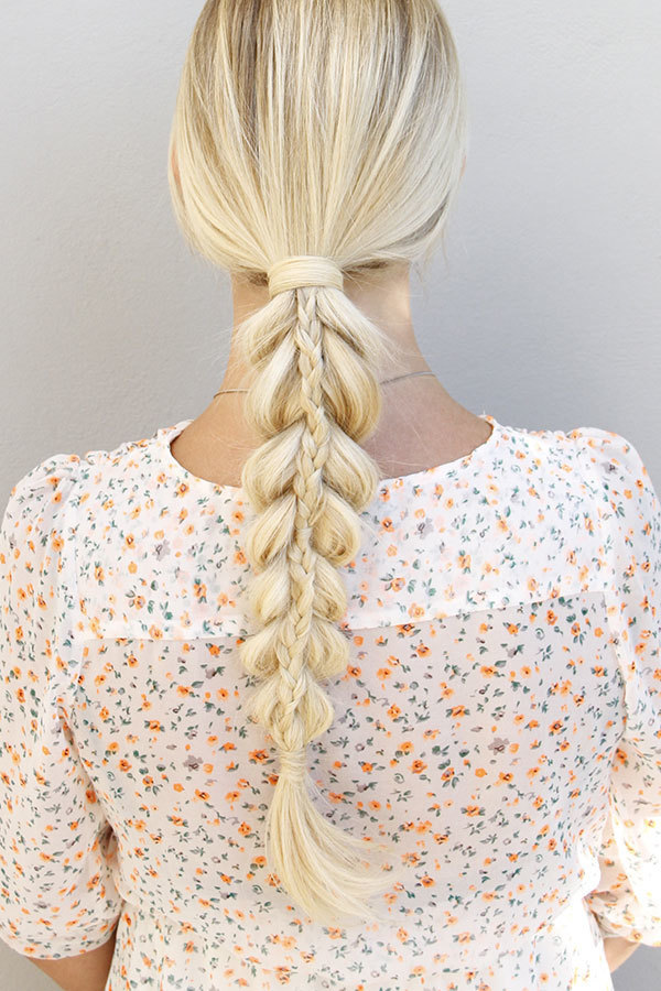 Pull-Through-Braids-Hairstyle Long Braided Hairstyles to Look Beautiful as Never Before