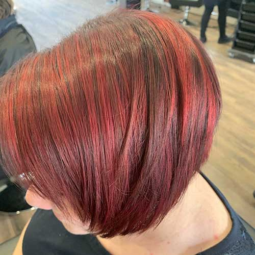 Red-Bob-Hair Super Short Haircuts for Women