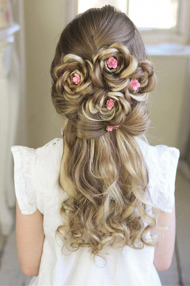 Rose-Hairstyle Most Cutest Flower Girl Hairstyles