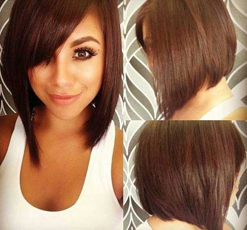 Sexy-Short-Brown-Bob Best Short Bobs for Ladies with Round Faces