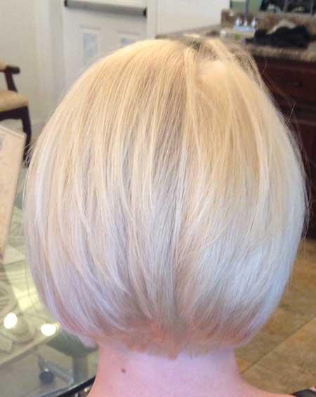 Short-Blonde-Perfectly-Straight-Bob New Bob Hairstyles 2020