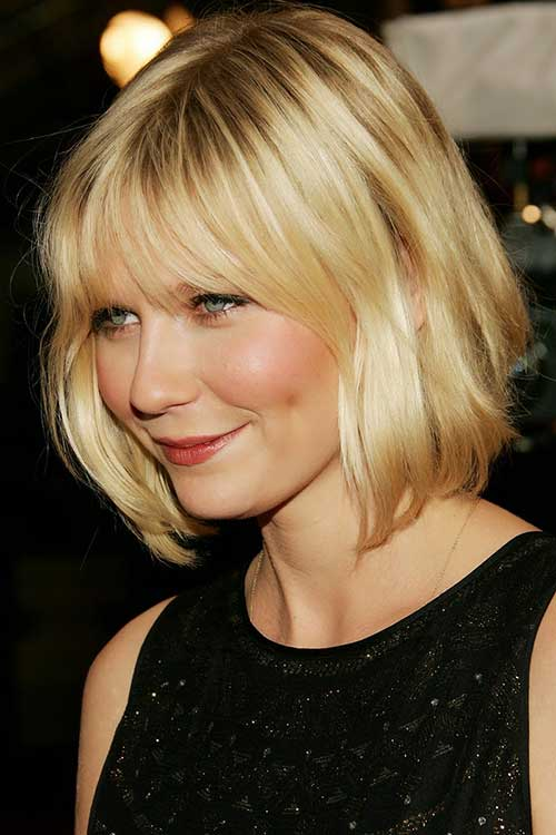 Short-Blonde-Wavy-Bob Best Short Bobs for Ladies with Round Faces