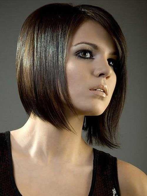 Short-Brown-Classy-Bob Best Short Bobs for Ladies with Round Faces