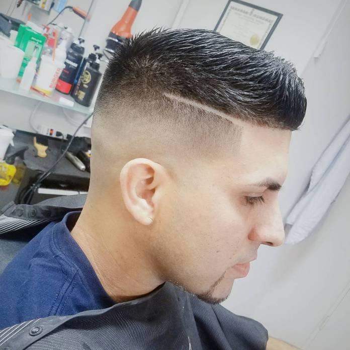 Short-Choppy-Brush-Up-Hair Most Trendy Looks of Short Fade Haircuts