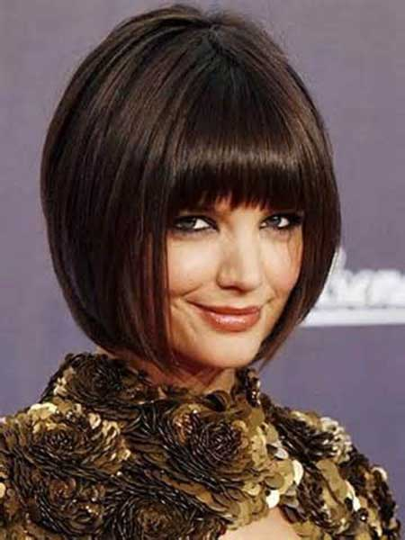 Short-Dark-Cute-Simple-Bob New Bob Hairstyles 2020