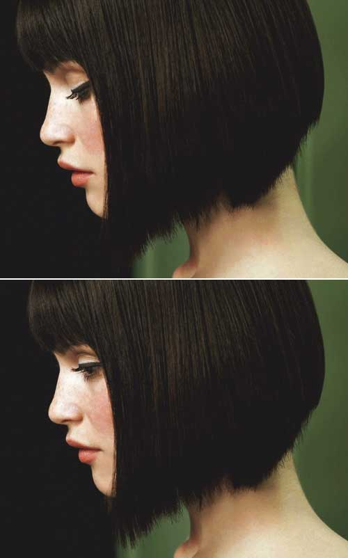Short-Dark-Straight-Bob Best Short Bobs for Ladies with Round Faces