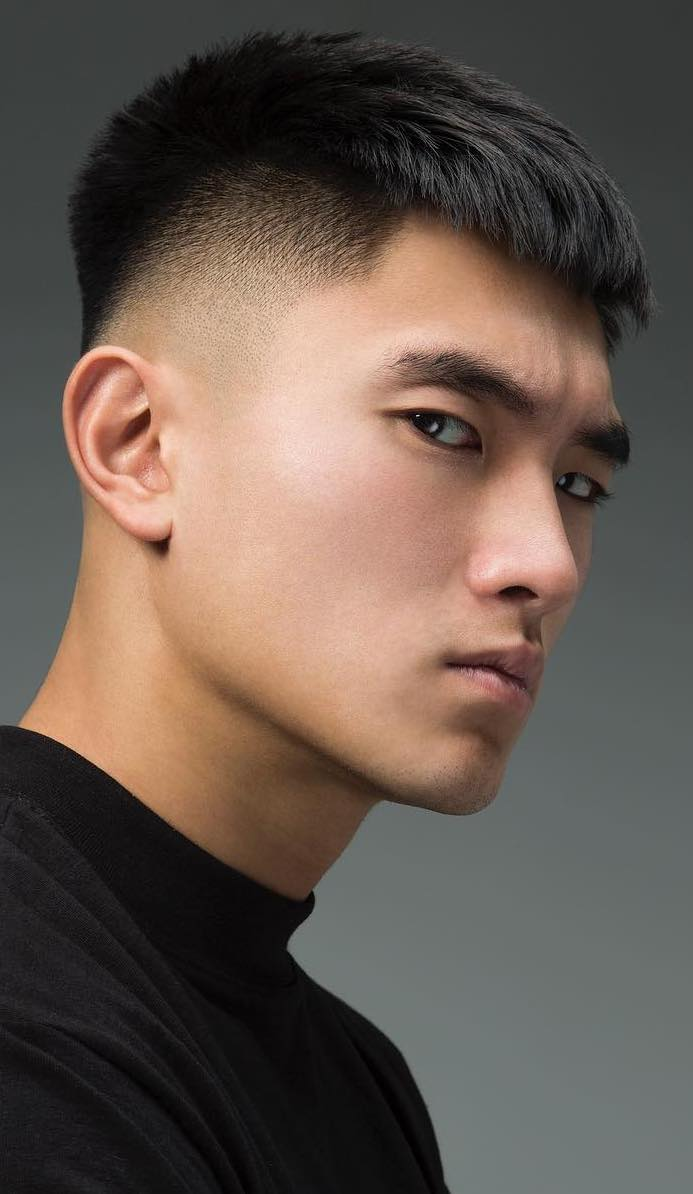 Short-French-Crop-Hair-with-an-Undercut Dashing Korean Hairstyles for Men