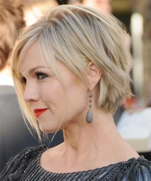 Short-Rebellious-Blonde-Bob Best Short Bobs for Ladies with Round Faces