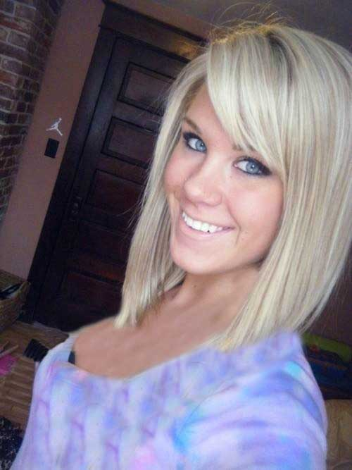 Short-Straight-Cut-Bob Best Short Bobs for Ladies with Round Faces