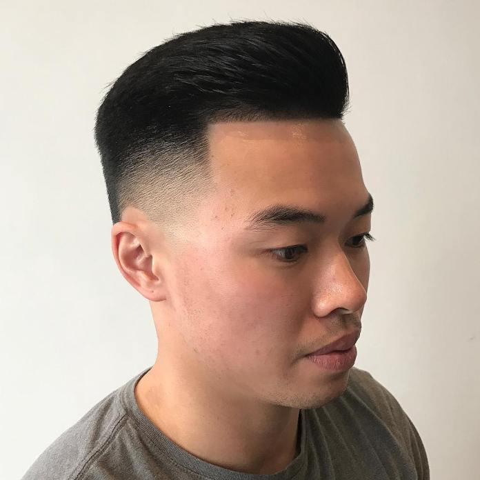 Short-Swept-Back-Hair-with-Faded-Undercut Dashing Korean Hairstyles for Men