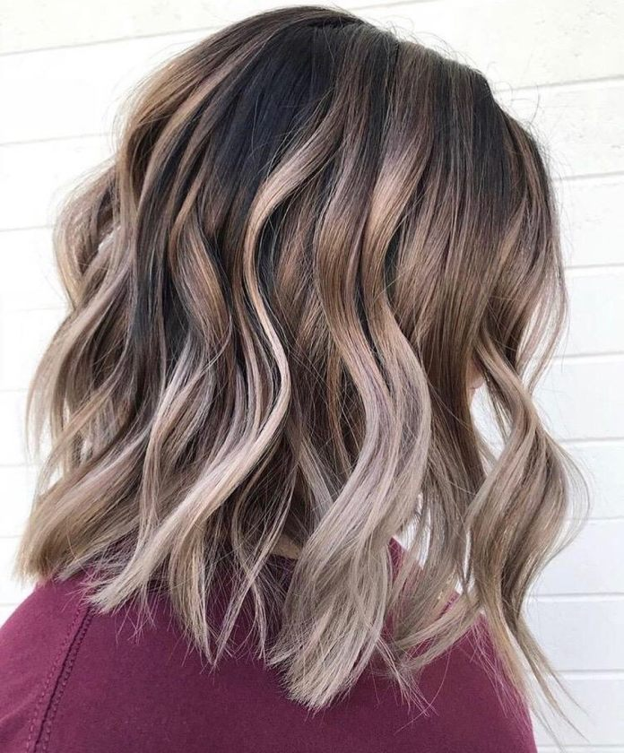 Shoulder-Length-Highlighted-Hair Most Coolest Medium Hairstyles with Color