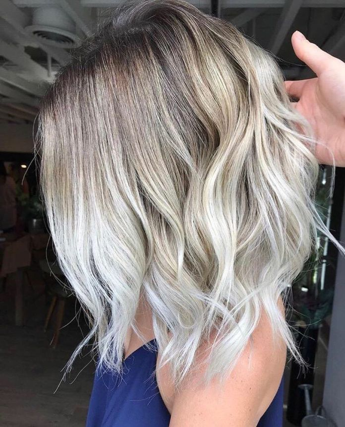 Shoulder-Length-Ombre-Hair Most Coolest Medium Hairstyles with Color