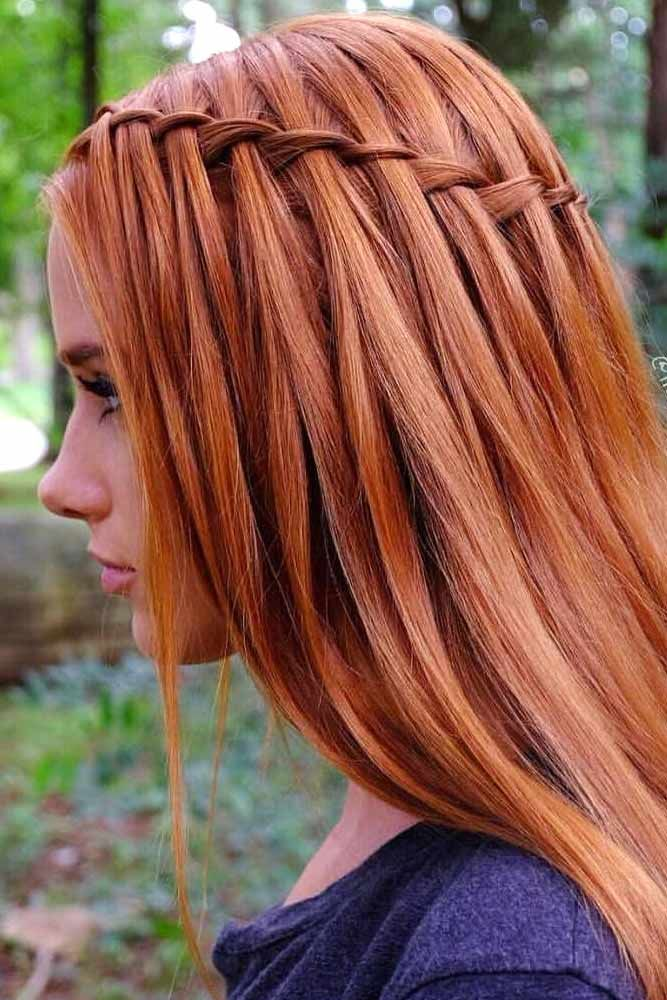 Simple-Braided-Ginger-Hair Braids Hairstyles 2020 for Ultra Stylish Looks