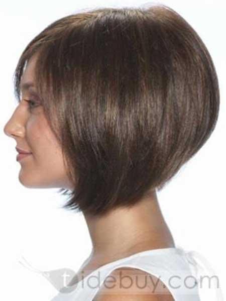 Straight-Dark-Brown-Voluminous-Bob Gorgeous Layered Cut Bob Hairstyles