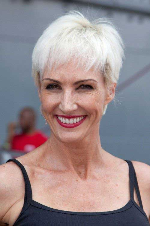 Straight-Pixie Most Beloved Short Hair Styles for Older Women