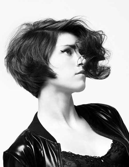 Stylish-Asymmetrical-Wavy-Dark-Bob Asymmetric Bob Hairstyles 2020