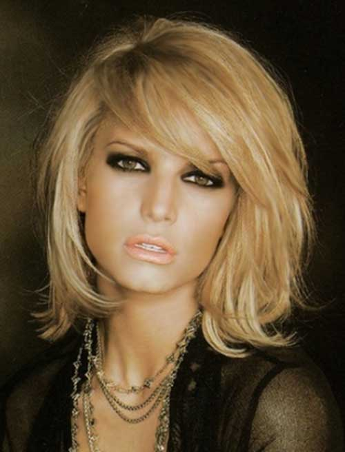 Thick-Hairdo's-Perfect-with-Side-Swept-Bangs Best Ways to Sport Bob Hairstyles with Thick Hair