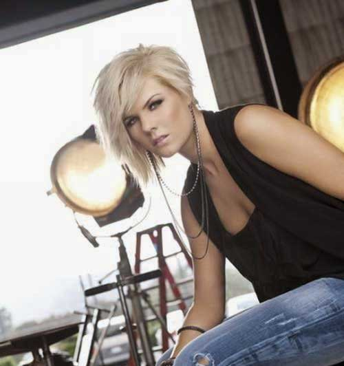 Trendy-Asymmetrical-Platinum-Blonde-Bob-Haircut Asymmetric Bob Hairstyles 2020
