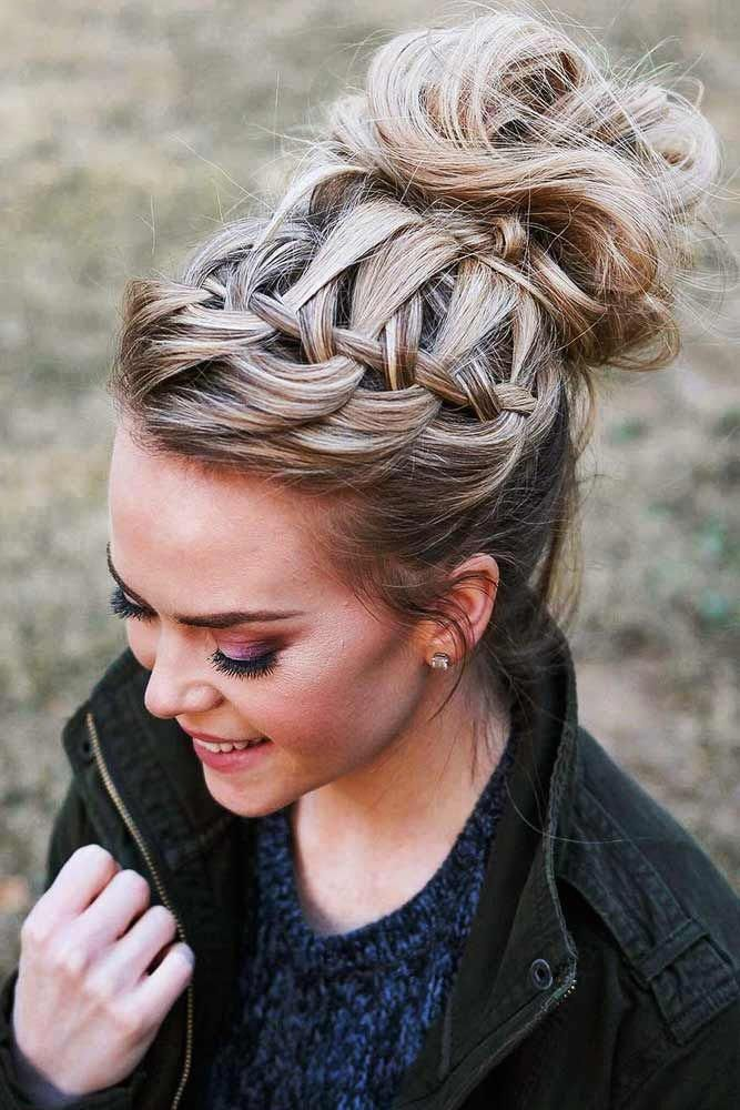 Twisted-Braids-and-Bun-Updo Braids Hairstyles 2020 for Ultra Stylish Looks