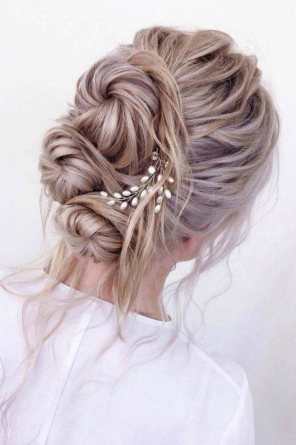 Twisted-Bun-Look Ultra Modern Wedding Hairstyles 2020