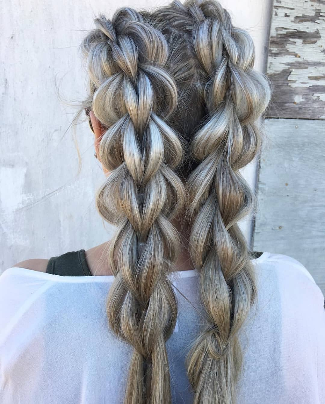 Two-Braid-Hairstyle-on-Medium-Length-Hair Most Amazing Medium Braided Hairstyles