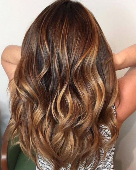 Warm-Toned-Brown-Hair-with-Caramel-Balayage 15 Trendy Long Haircuts For Women In 2020