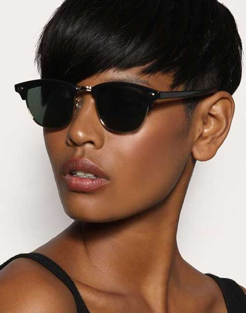 Wonderful-Very-Short-Pixie-Hairstyle-for-Black-Women Naturally Short Hairstyles for Beautiful Black Women