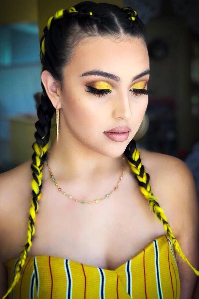 Yellow-Braided-Hair Braids Hairstyles 2020 for Ultra Stylish Looks