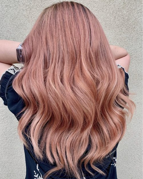 classic-rose-gold Best rose gold hair color ideas