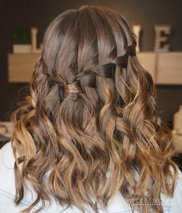 elegant-waterfall-braid 14 Medium Hairstyles for Women in 2020