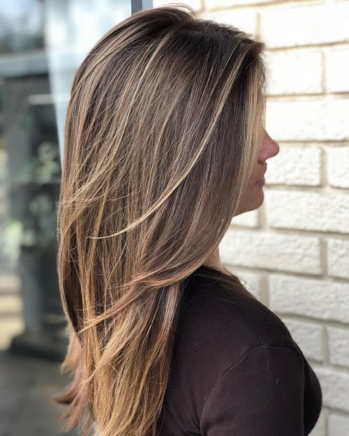 light-brown-with-long-layers 12 Trending Long Layered Haircuts in 2020