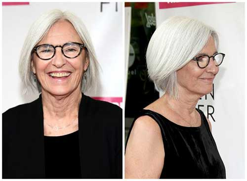 straight-bob-hairstyle Beautiful Short Haircuts for Older Women