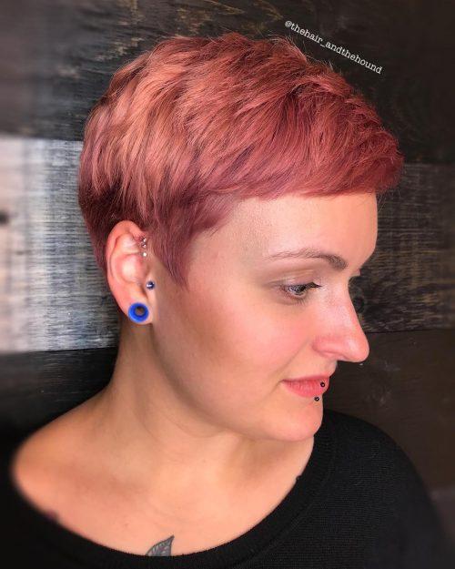 watermelon-pixie Best rose gold hair color ideas