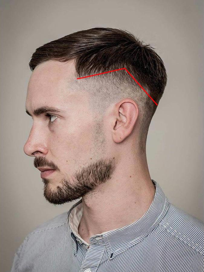Angled-Skin-Drop-Fade-Cut Drop Fade Haircut for an Ultimate Stylish Look