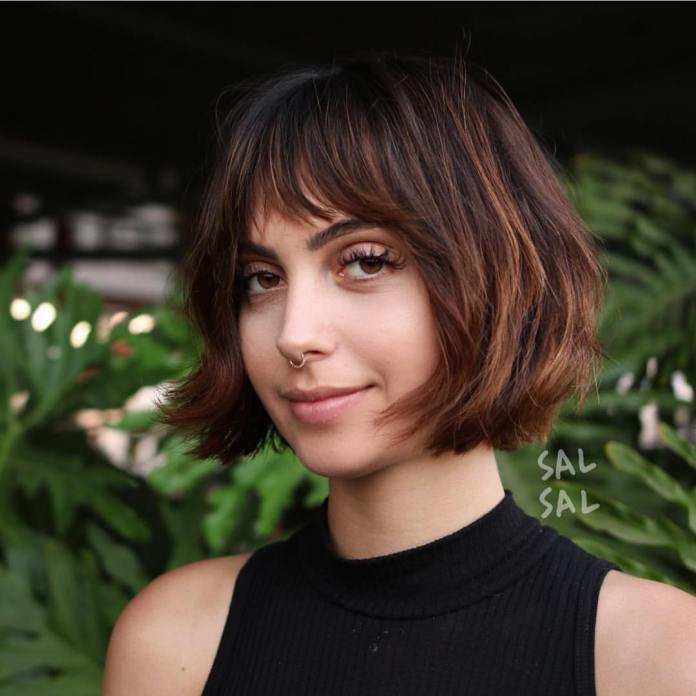 Bob-with-Bangs 25 Stupendous Hairstyles for Round Faces