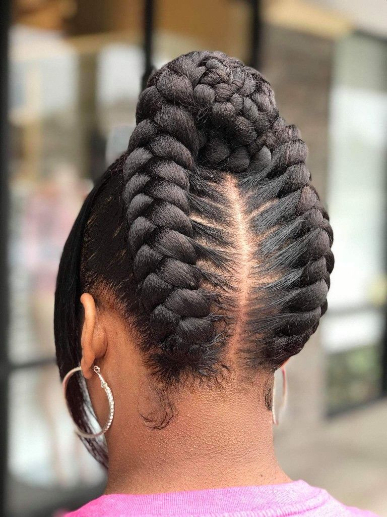 Braided-Back-Updo 25 Black Braided Hairstyles for Voguish Look