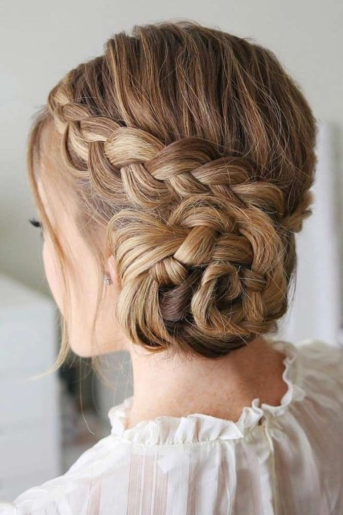 Braided-Messy-Bun Messy Bun Hairstyle is the New Style to Enhance Your Look