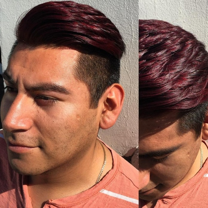 Burgundy-Hair-Color-For-Men 20 Hair Color for Men to Look Ultra Stylish