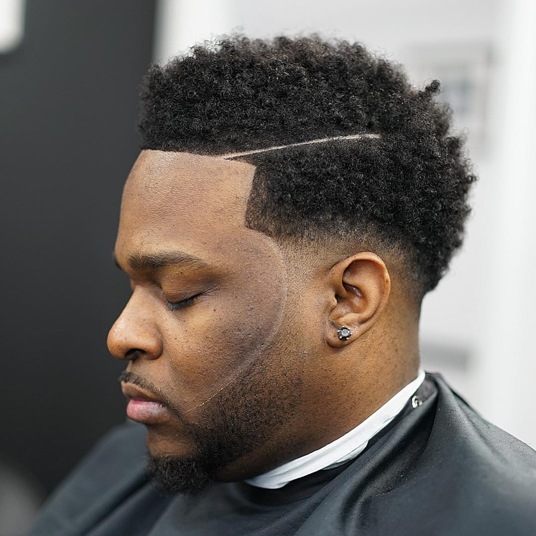 Drop-Fade-with-Afro Drop Fade Haircut for an Ultimate Stylish Look