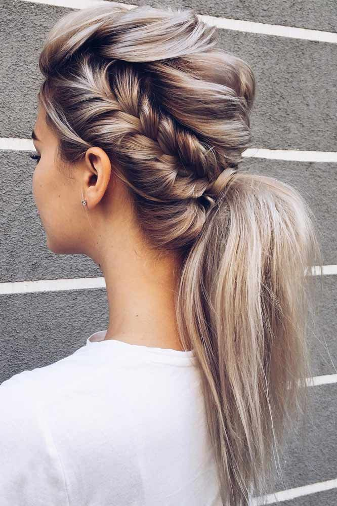 Edgy-Braided-Ponytail 25 Prom Hairstyles 2020 for an Exquisite Look