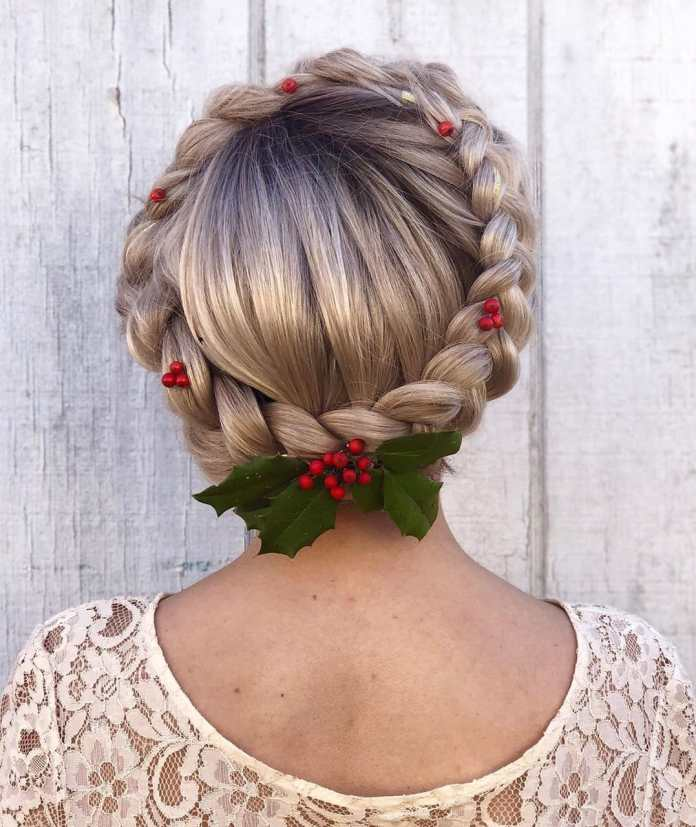 Festive-Braid- 21 Halo Braids to Uplift Your Overall Appearance
