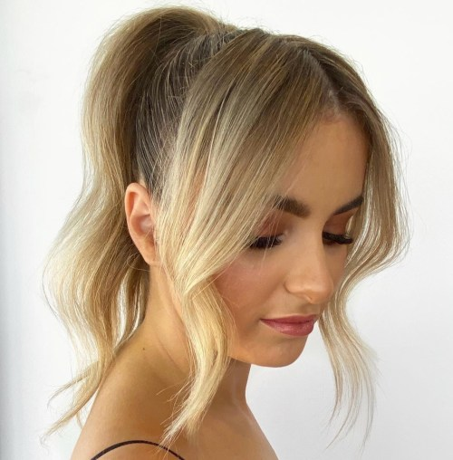 Fine-Hair-High-Ponytail 15 Fabulous Hairstyles for Fine Hair