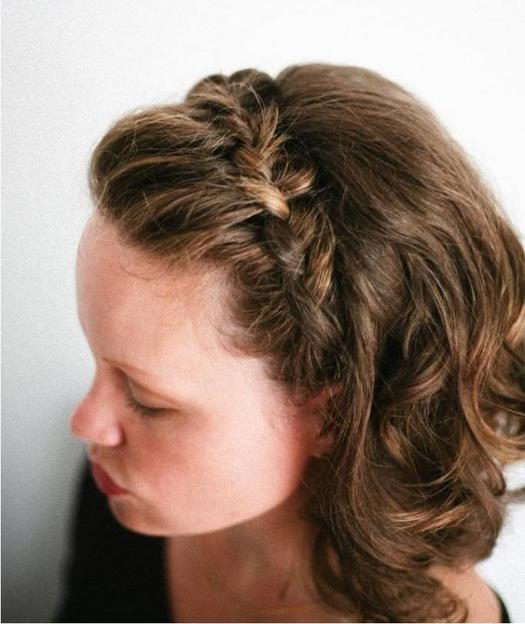 French-Fringe-Braid 10 On-trend braided hairstyles for short hair