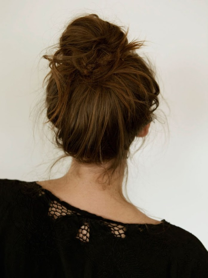 Funky-Messy-Bun Messy Bun Hairstyle is the New Style to Enhance Your Look