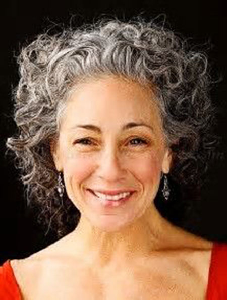 Grey-Hair Best Short Curly Hairstyles for Women Over 50