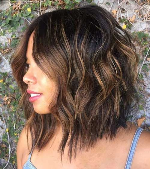 Long-Bob-for-Round-Face Best Short Layered Haircuts for Women
