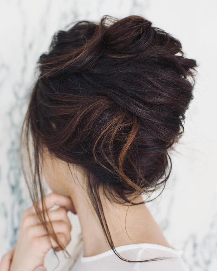 Messy-Bun 25 Prom Hairstyles 2020 for an Exquisite Look